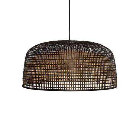 Ay Illuminate Hanglamp Doppio Grid donkerbruin bamboe Ø80x42cm