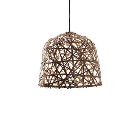 Ay Illuminate Hanglamp Black Birds Nest small naturel bamboe Ø37x39cm