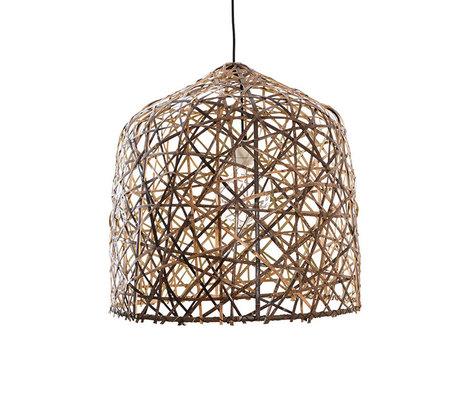 Ay Illuminate Hanglamp Black Birds Nest medium naturel bamboe Ø57x58cm