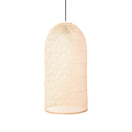 Ay Illuminate Hanglamp Cap small naturel bamboe Ø38x92cm