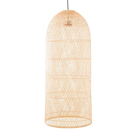 Ay Illuminate Hanglamp Cap large naturel bamboe Ø48x110cm
