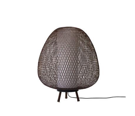 Ay Illuminate Vloerlamp Twiggy Egg bruin bamboe Ø60x70cm