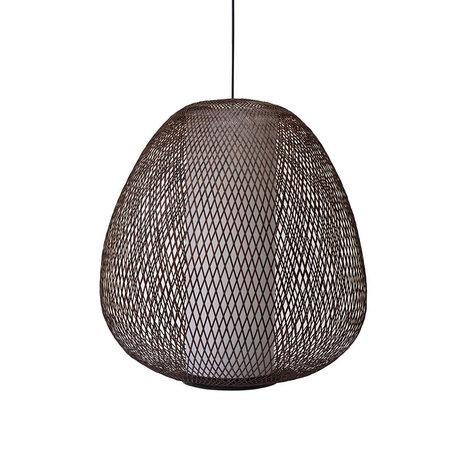 Ay Illuminate Hanglamp Twiggy Egg bruin bamboe Ø60x70cm