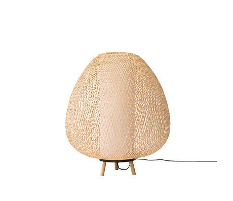 Ay Illuminate Vloerlamp Twiggy Egg naturel bamboe Ø60x70cm