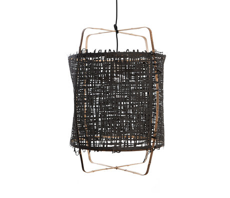 Ay Illuminate Hanglamp Z1 zwart bamboe papier Ø67x96cm