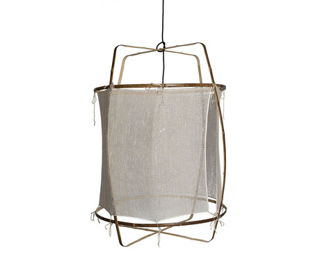 Ay Illuminate Hanglamp Z1 wit bamboe zijde Ø67X96cm