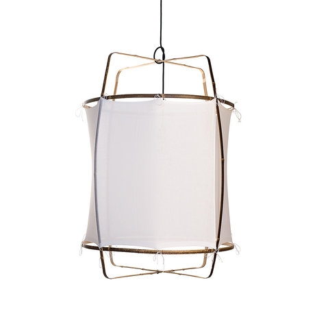 Ay Illuminate Hanglamp Z1 wit bamboe katoen Ø67x96cm