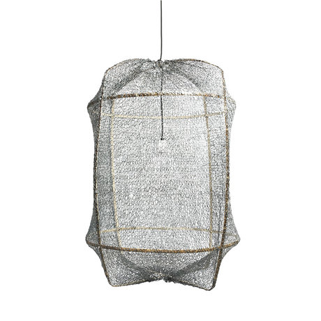 Ay Illuminate Hanglamp Z1 grijs bamboe sisal Ø67x96cm
