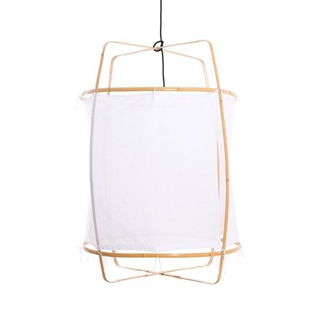 Ay Illuminate Hanglamp Z2 wit bamboe katoen Ø67x96cm