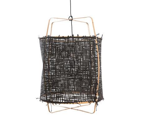 Ay Illuminate Hanglamp Z2 zwart bamboe papier Ø67x96cm