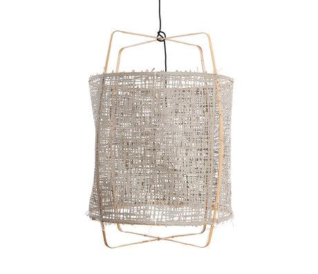Ay Illuminate Hanglamp Z2 grijs bamboe papier Ø67x96cm