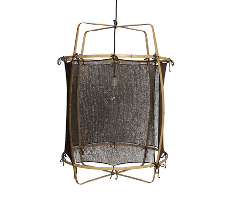 Ay Illuminate Hanging lamp Z2 black bamboo side Ø67x96cm