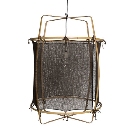 Ay Illuminate Hängelampe Z2 schwarz Bambus Seite Ø67x96cm