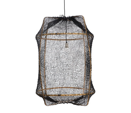 Ay Illuminate Hanglamp Z2 zwart bamboe sisal Ø67x96cm
