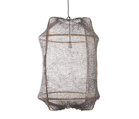 Ay Illuminate Hanglamp Z2 grijs bamboe sisal Ø67x96cm