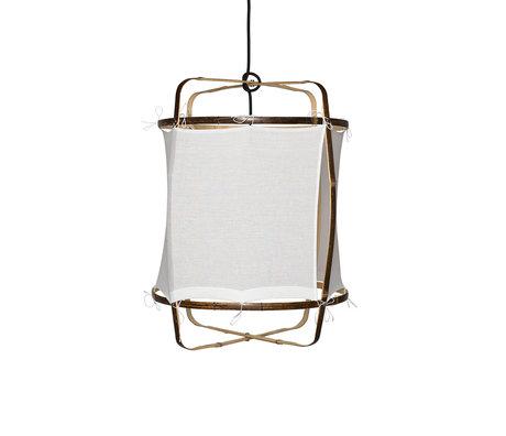 Ay Illuminate Hanglamp Z5 wit bamboe katoen Ø41x56cm