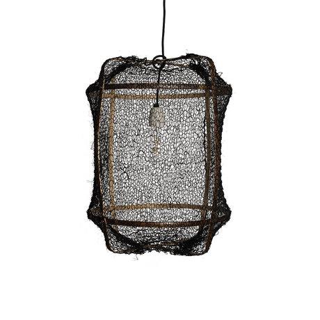 Ay Illuminate Hanglamp Z5 zwart bamboe sisal Ø41x56cm