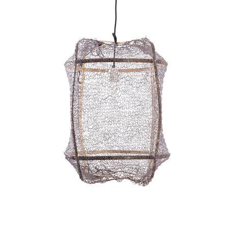 Ay Illuminate Hanglamp Z5 grijs bamboe sisal Ø41x56cm