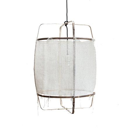 Ay Illuminate Hanglamp Z11 wit bamboe zijde Ø48x72,5cm