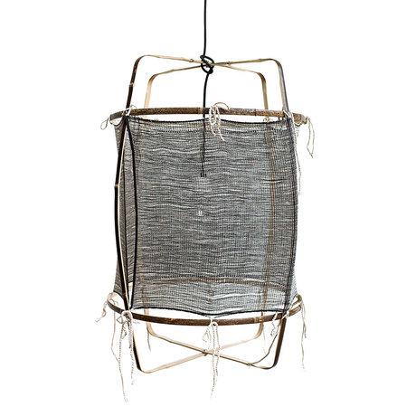 Ay Illuminate Hanglamp Z11 zwart bamboe zijde Ø48x72,5cm