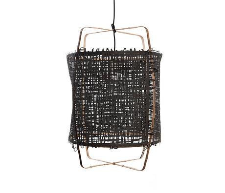 Ay Illuminate Hanglamp Z11 zwart bamboe papier Ø48x72,5cm