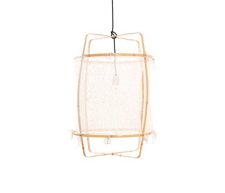 Ay Illuminate Hanglamp Z22 wit bamboe zijde Ø48x72,5cm