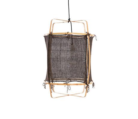 Ay Illuminate Hanglamp Z22 zwart bamboe zijde Ø48x72,5cm