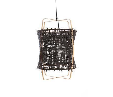 Ay Illuminate Hanglamp Z22 zwart bamboe papier Ø48x72,5cm