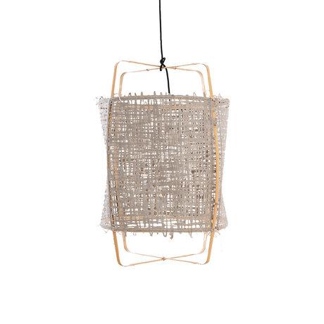 Ay Illuminate Hanglamp Z22 grijs bamboe papier Ø48X72,5cm