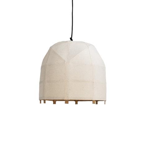 Ay Illuminate Hanglamp Bagobo O small wit bamboe Ø39x35cm