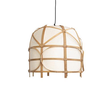 Ay Illuminate Hanglamp Bagobo R medium naturel bamboe Ø50x44cm