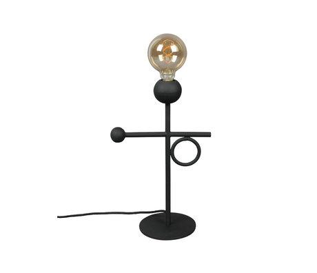 Tafellamp Loyd zwart gepoedercoat ijzer 25x15,5x40cm