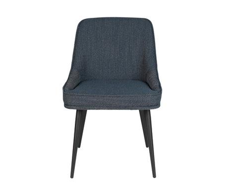 Eetkamerstoel Magnus donkerblauw textiel 54,5x60,5x85cm