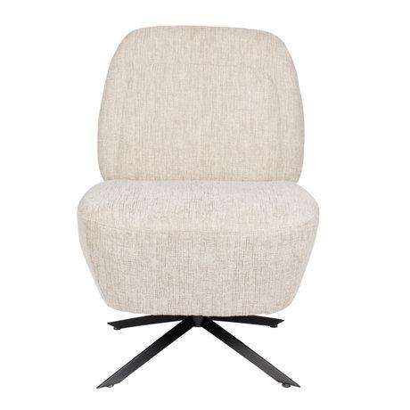 Fauteuil Dusk wit beige textiel 55x50x85cm