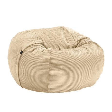 Vetsak Beanbag Cord velor sand brown ribbed velvet Ø110x70cm