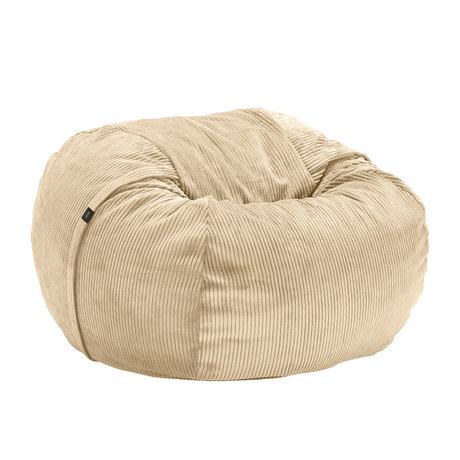 Vetsak Sitzsack Cord Velours Sandbraun gerippter Samt Ø110x70cm