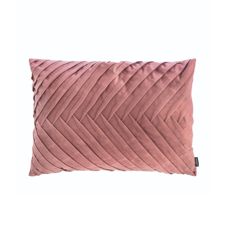 Riverdale Throw pillow Elja old pink polyester 50x70x23cm