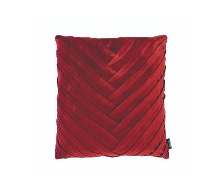 Riverdale Sierkussen eve bordeaux rood polyester 45x45x19cm