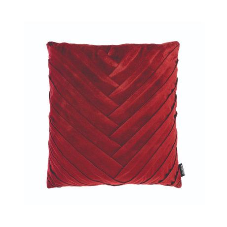Riverdale Coussin éveillé polyester rouge bordeaux 45x45x19cm