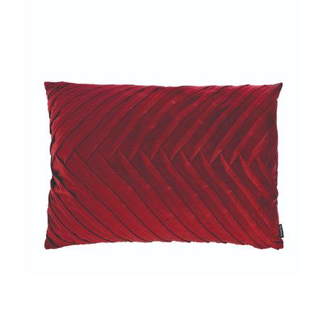 Riverdale Sierkussen Elja bordeaux rood polyester 50x70x23cm