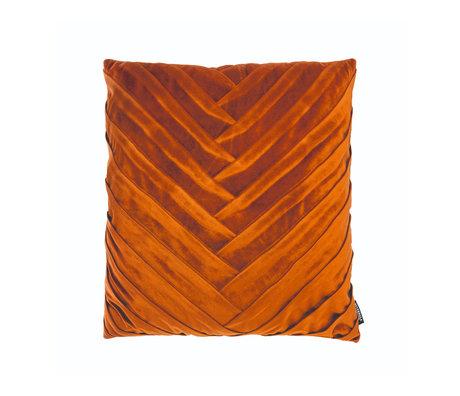 Riverdale Coussin décoratif Eve orange marron polyester 45x45x19cm