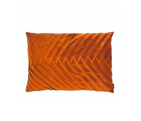 Riverdale Throw pillow Elja orange brown polyester 50x70x23cm