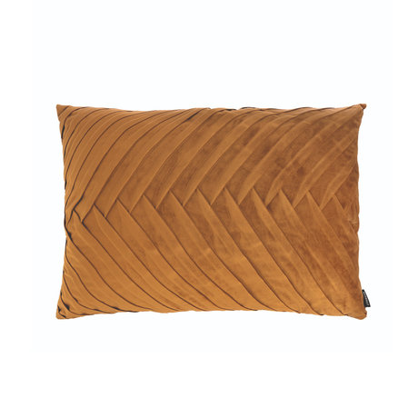 Riverdale Throw pillow Elja gold polyester 50x70x23cm