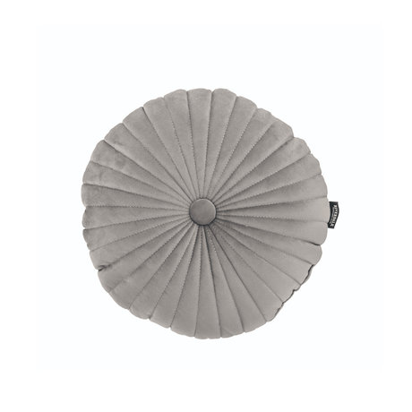 Riverdale Sierkussen Emmy licht grijs polyester 40x40x12cm