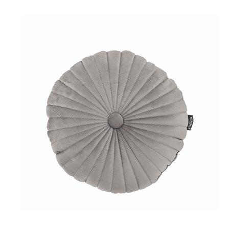 Riverdale Throw pillow Emmy light gray polyester 40x40x12cm