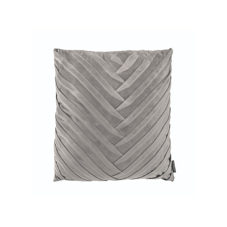 Riverdale Coussin Eve polyester gris clair 45x45x19cm