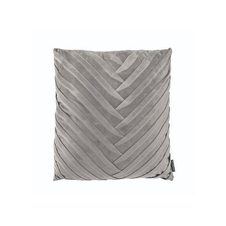 Riverdale Sierkussen Eve licht grijs polyester 45x45x19cm