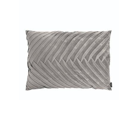 Riverdale Throw pillow Elja light gray polyester 50x70x23cm