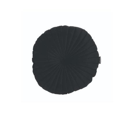 Riverdale Sierkussen Emmy zwart polyester 40x40x12cm