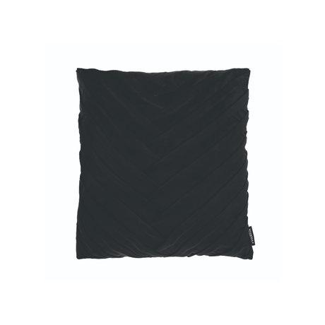 Riverdale Throw pillow Eve black polyester 45x45x19cm